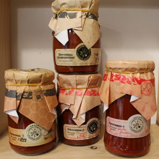 лютеница с розови домати Старите рецепти
