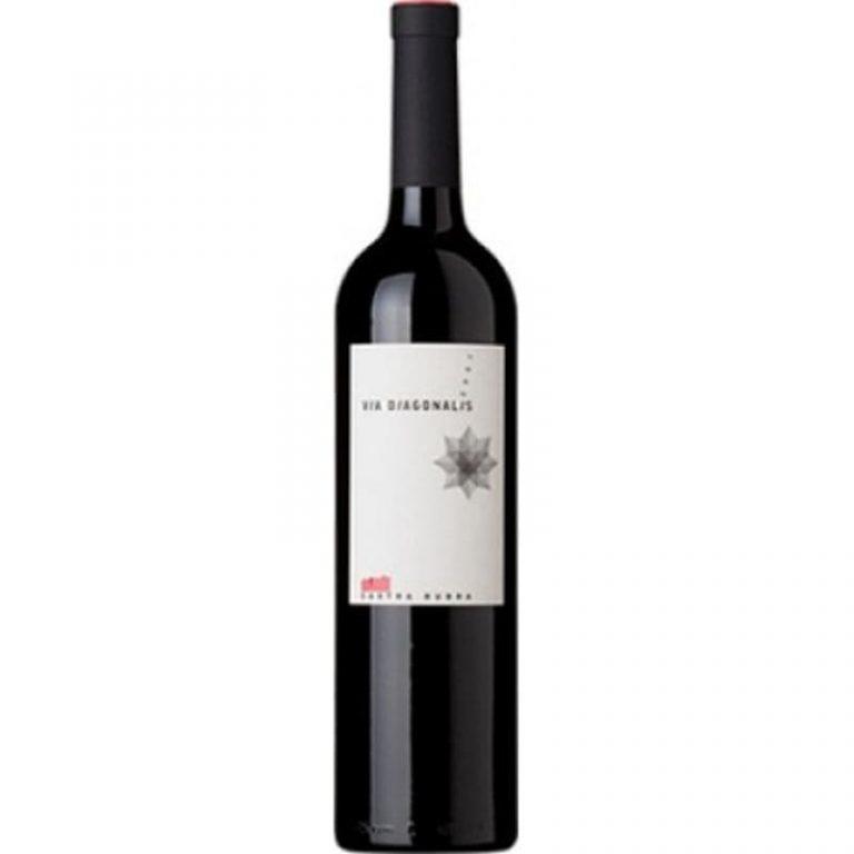 "Червено вино Виа Диагоналис Мерло, Каберне Совиньон, Рубин и Мавруд ""Кастра Рубра"""
